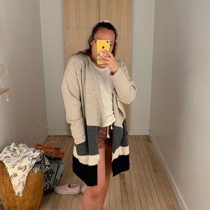 Striped madewell cardigan